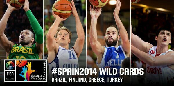Convites Fiba, Mundial, Brasil, Finlândia