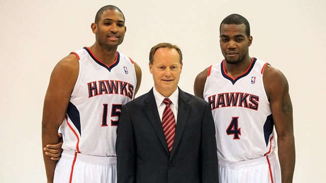 Horford, Bud e Millsap: boa base para o Hawks do futuro