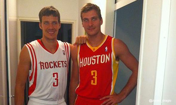 Goran e Zoran. Ou Zoran e Goran: na época de Houston, fotografos por Daryl Morey