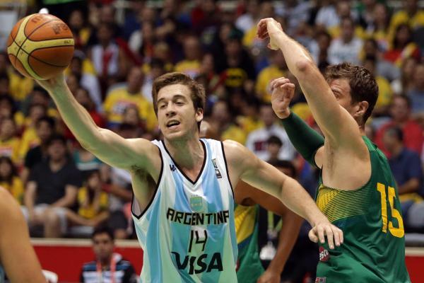 Bortolín, um pivô muito promissor para a Argentina. Agradável surpresa