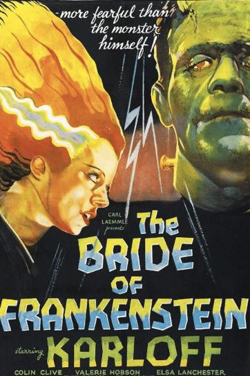A noiva do Boris Karloff. Quer dizer, do Frankenstein. Mas não do Frank Rubin, que fique claro