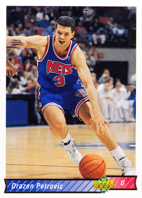Drazen Petrovic, Nets, card, New Jersey