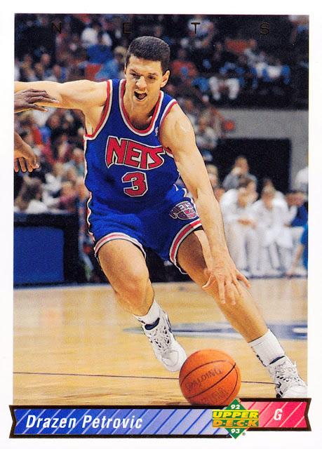 Drazen Petrovic, Nets, card, New Jersey