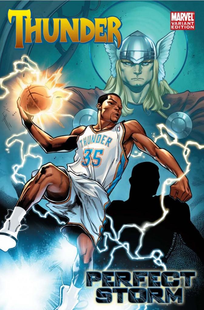 Durant foi associado a Thor, o Deus do Trovão na brincadeira entre Marvel, ESPN e NBA em 2010. Mas ele estava muito mais para Homem de Ferro, mesmo