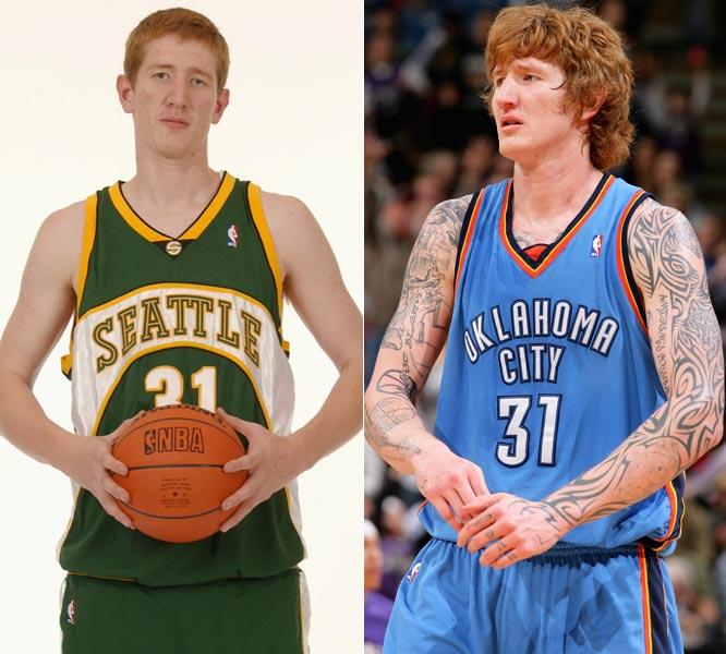 Robert Swift, antes e depois: transformação no visual ainda em tempos de NBA