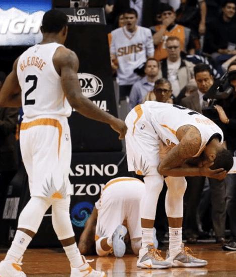 É... perder para um time do Leste, em casa, causa esse tipo de dor. Bucks bate Suns no último chute