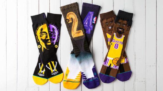 Meias em homenagem a Kobe Bryant, Lakers