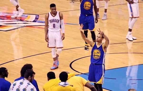 Westbrook provocou bastante. Agora tem um Jogo 7 para encarar Curry novamente