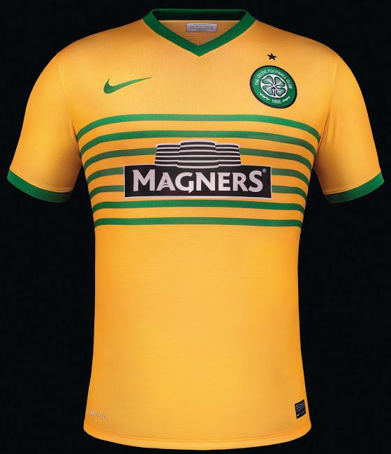 Crédito  Divulgação. A tradicional equipe escocesa tem como principal  uniforme as listras horizontais verdes ... 80e3a1307a71b