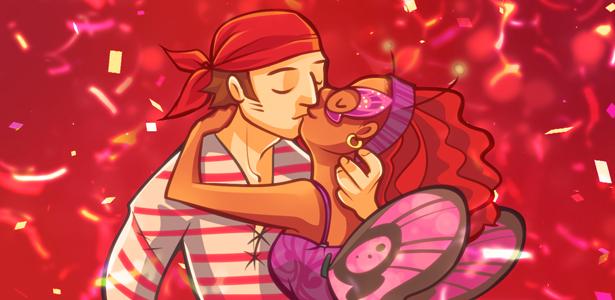 Ilustração de Lumi Mae para o post sobre amor de Carnaval