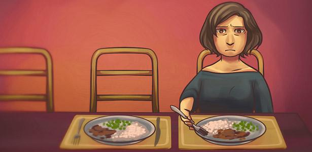 Mulher casada e sozinha
