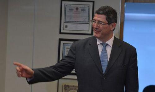 Joaquim Levy, durante encontro com Mantega. Foto: EBC