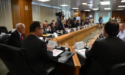A última reunião das centrais, no dia 25 de fevereiro. Foto: ABr
