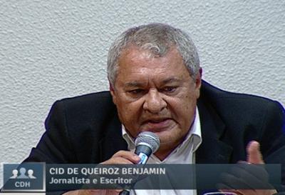 Cid Benjamin em audiência pública no Senado: memórias da luta. Foto: reprodução de TV