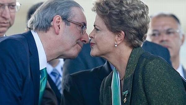 Cunha e Dilma em cerimônia da entrega de medalha do Exército, na foto que circulou o País nos últimos dias.