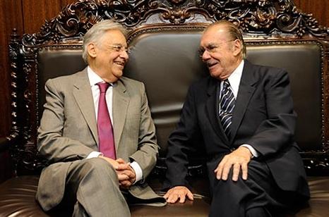 Sarney e FHC, em encontro no Senado. Foto Arquivo Ag. Senado