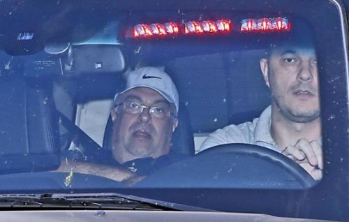 Vargas, na viatura da PF no dia da prisão. Foto: Gazeta do Povo