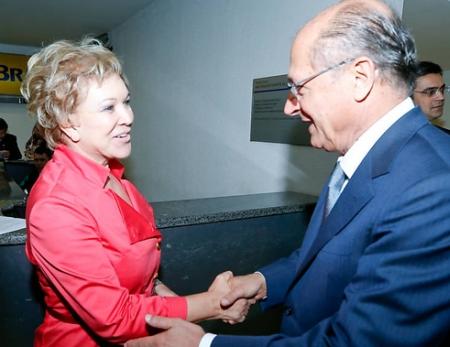 Alckmin e Marta - há quem garanta que ambos já conversam no cantinho. Foto: Folha