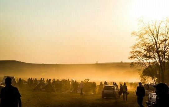 Imagem da ocupação anterior, em março deste ano, feita por sem-terra.