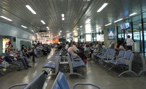 Panorâmica de parte do terminal de embarque.
