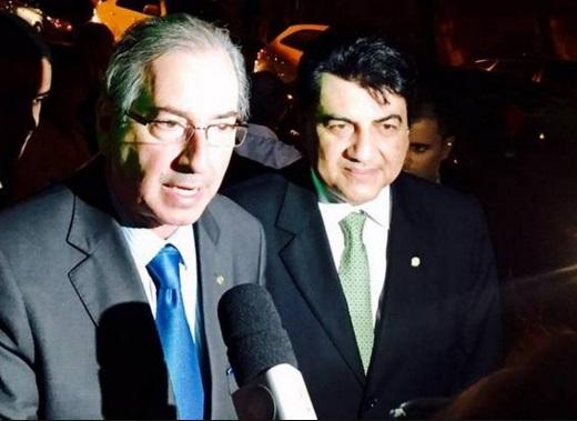 Cunha e o fiel escudeiro Manoel Junior.