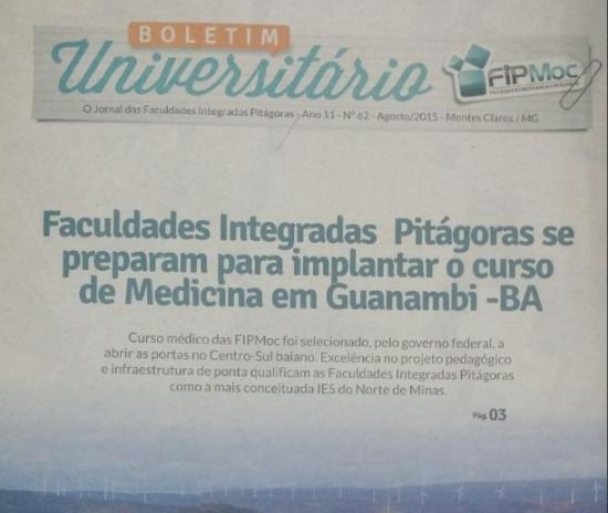 Folder informativo da faculdade distribuído na cidade baiana. Reprodução