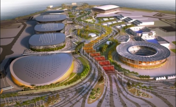 Perspectiva de como será o Parque Olímpico na Barra