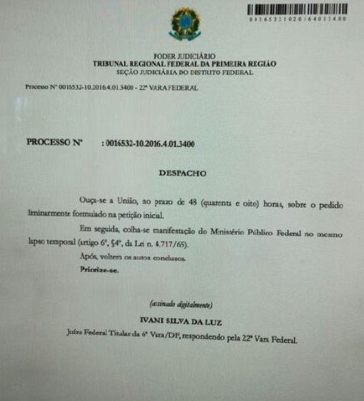Juíza acolhe denúncia e dá 48h para AGU se manifestar sobre Lula