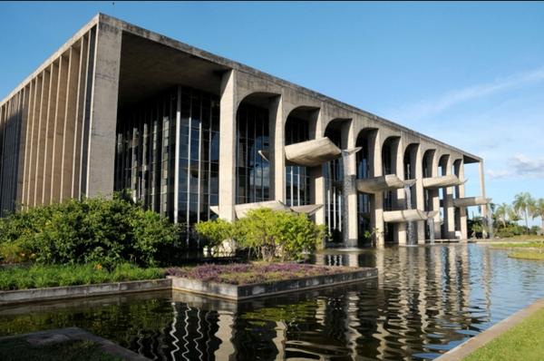 A sede do MJ em Brasília, o Palácio da Justiça