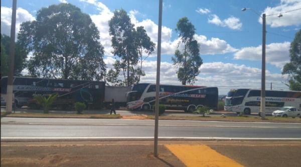 Os ônibus próximo a Anápolis