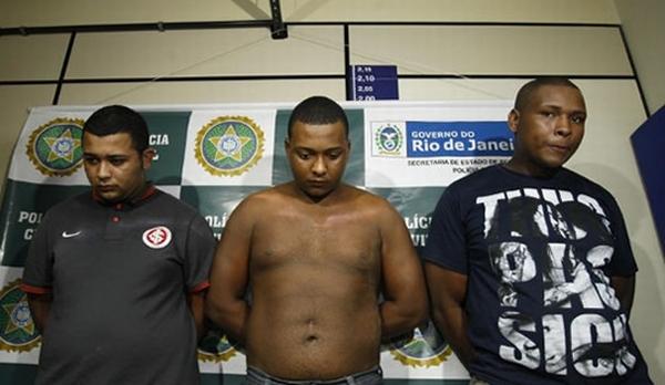 O trio preso e condenado no Rio