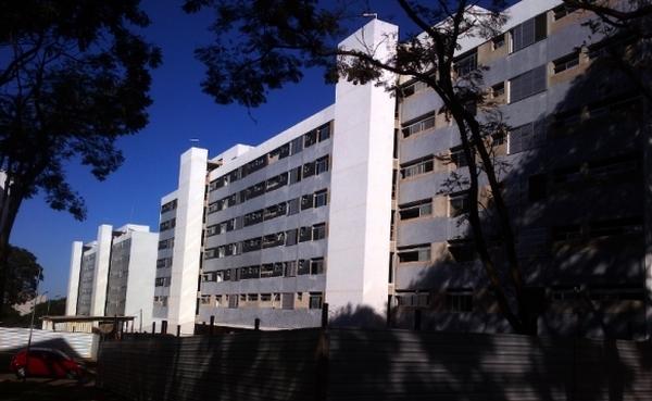 Blocos na quadra 302 Norte, a dos apartamentos funcionais
