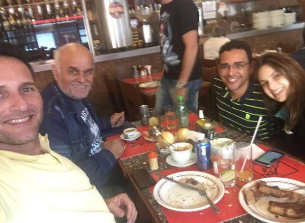 Bauer e Emerson (E) e Patrícia com o empresário Marcelinho - Para delegado, não houve sequestro