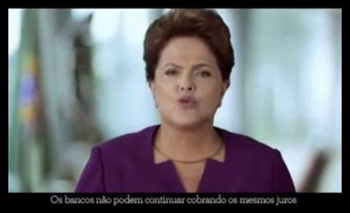 Na TV, Dilma anunciou cruzada contra os juros; hoje, taxa voltou a ser a maior do mundo
