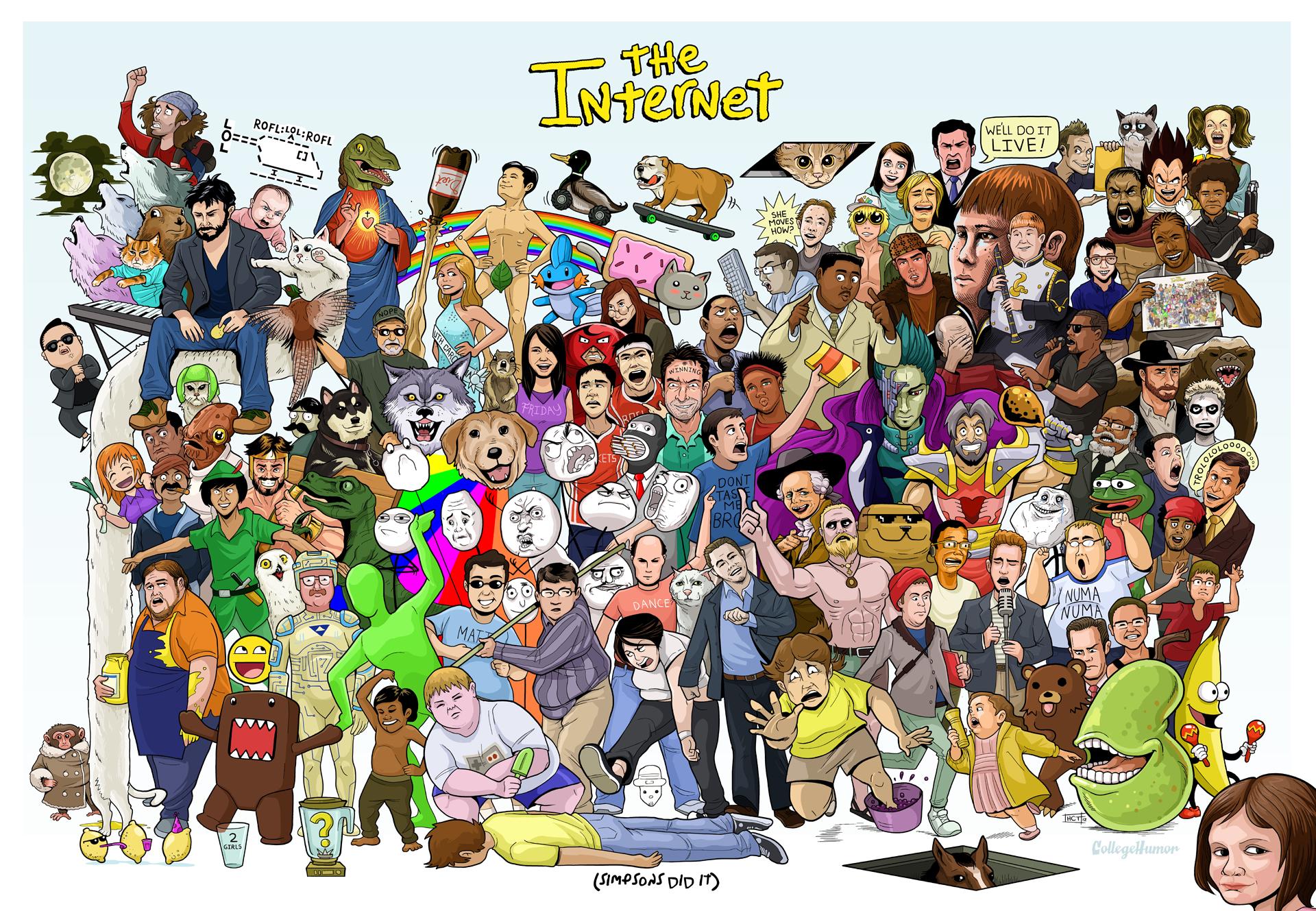 Poster Tenta Resumir Memes E Personalidades Mais Populares Da