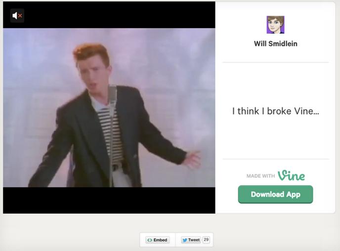 Desenvolvedor burla restrição de seis segundos do Vine e posta vídeo completo