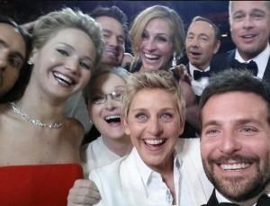 Selfie  registrado na cerimônia do Oscar está longe de ser perfeito