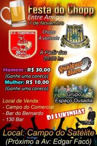 festa do chopp comercial