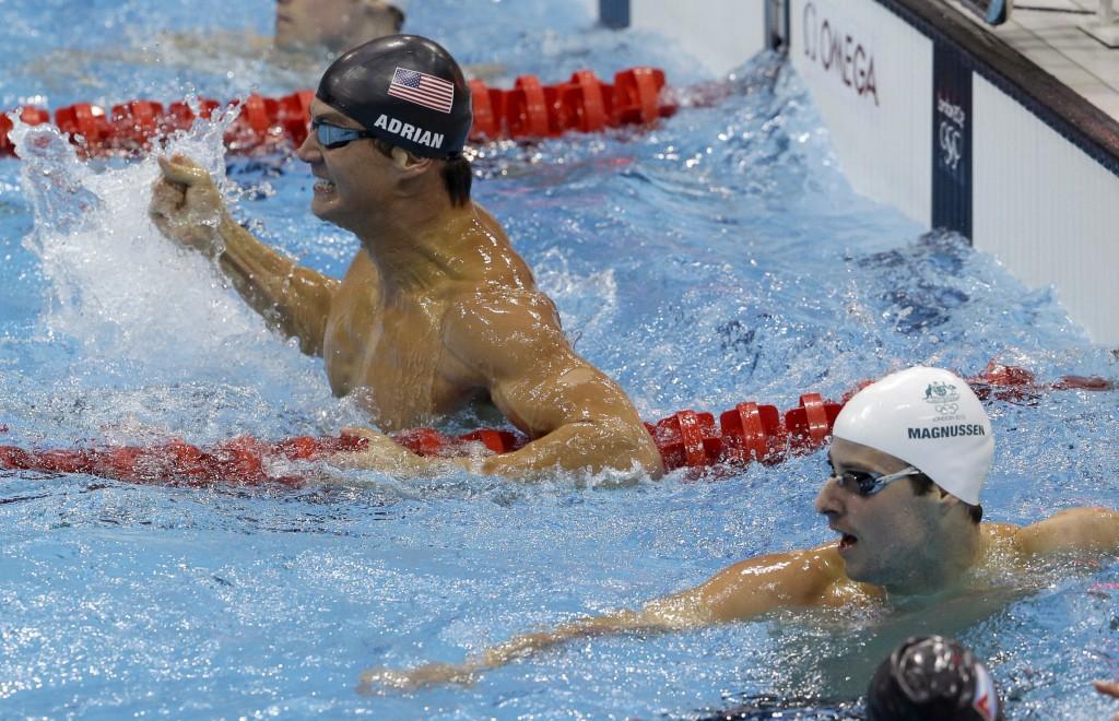 Em Londres-2012, Adrian levou a melhor sobre Magnussen... - Foto de Lee Jin-man/AP