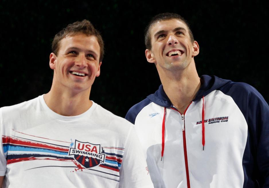 Os dois são adversários dentro d'água e amigos fora da piscina - Foto: Jeff Haynes
