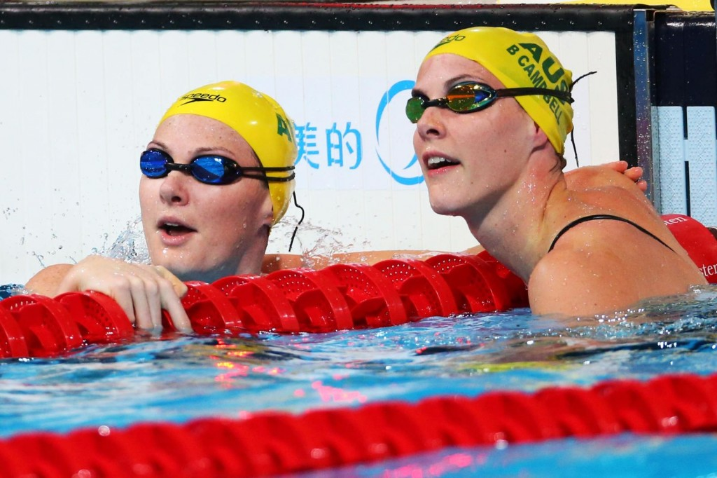 As irmãs australianas Cate e Bronte Campbell - Foto: Quinn Rooney/Getty Images