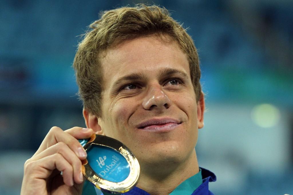 No Mundial de curta de 2010, Cielo foi ouro nos 50m e 100m livre - Foto: Satiro Sodré