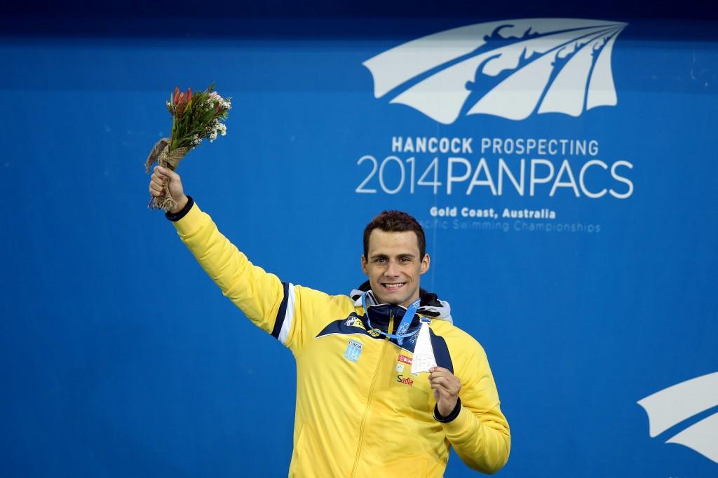 O brasileiro conquistou a primeira medalha do país  no Pan Pac - Foto: Satiro Sodré