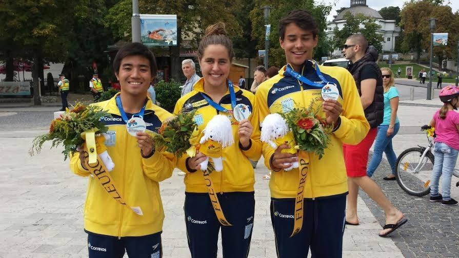Os jovens medalhistas do Brasil no Mundial Júnior - Foto: CBDA/Reprodução