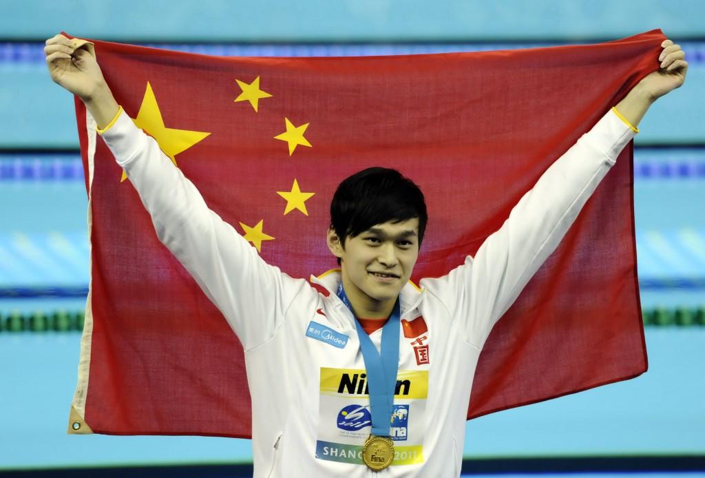 O chinês Sun Yang é uma das atrações dos Jogos da Ásia - Foto: US Presswire