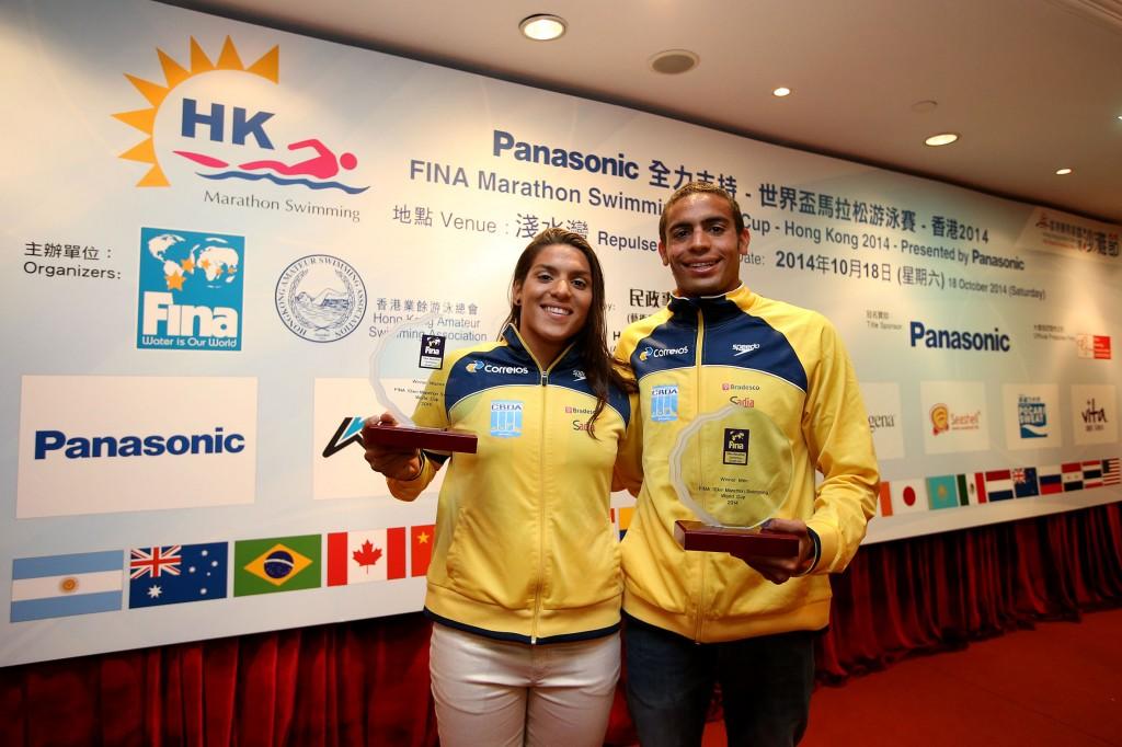 Ana Marcela e Allan do Carmo foram os campeões da Copa do Mundo-2014 - Foto: Satiro Sodré
