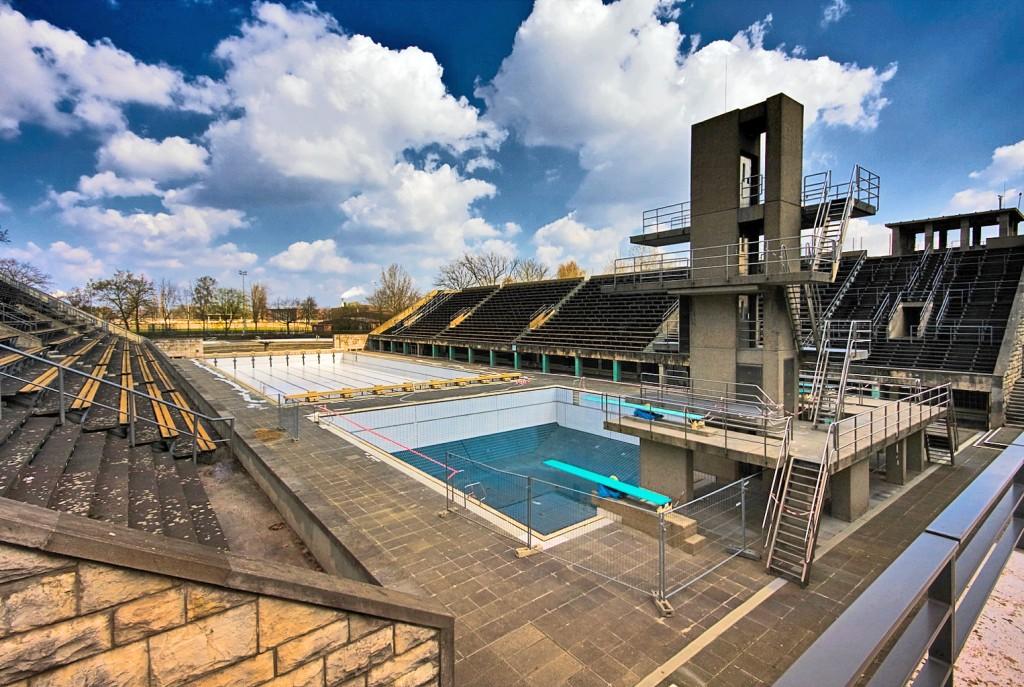 A piscina de Berlim-1936 hoje em dia - Foto: Andreas Levers