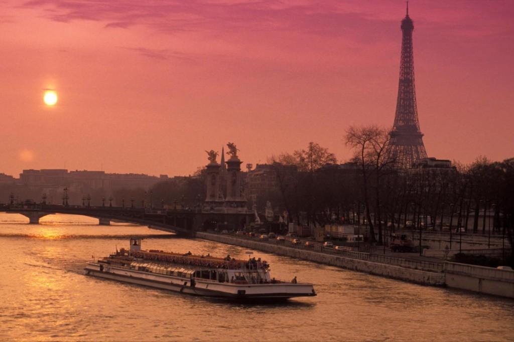 O Rio Sena foi palco da natação em Paris-1900 - Foto: Reprodução