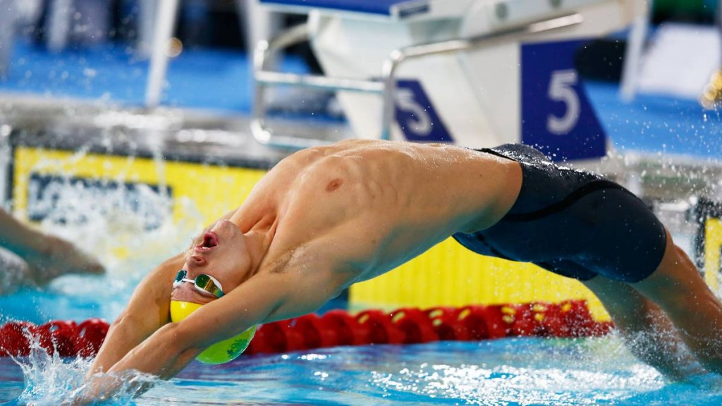 O australiano Mitch Larkin, líder dos 100m e 200m costas - Foto: Getty Images