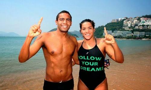 Ana Marcela e Allan nadam juntos outra vez